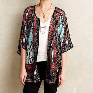 ANTHROPOLOGIE Tolani Fluttered Silk Kimono